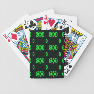 Modern Irish Green Geometric Pattern Bicycle Playing Cards
