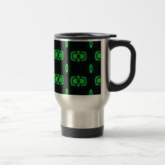 Modern Irish Green Geometric Pattern Travel Mug