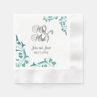 Modern Jade Lace Disposable Napkins