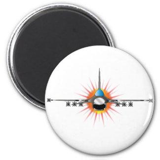 Modern Jet Fighter 2 Inch Round Magnet