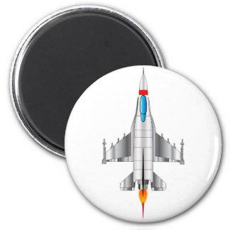 Modern Jet Fighter Plane 2 Inch Round Magnet