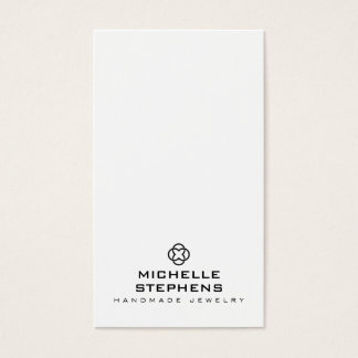 Modern Jewelry Designer Logo Earring Holder White Business Card