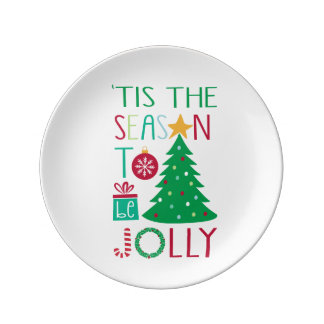 Modern Jolly Christmas Plate