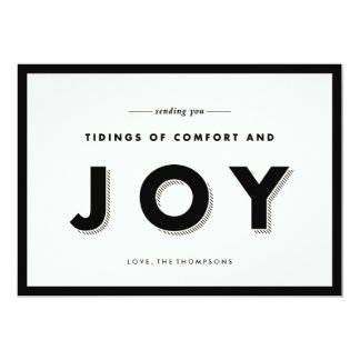 Modern Joy Holiday Greeting Card