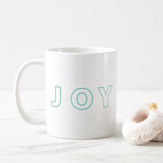 Modern Joy Ombre Green Aqua Christmas Holiday Coffee Mug
