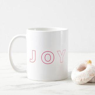 Modern Joy Ombre Pink Red Christmas Holiday Coffee Mug