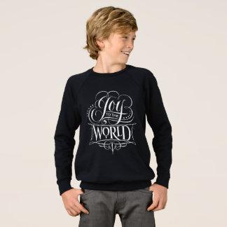 Modern Joy to the World Christmas Chalkboard Sweatshirt