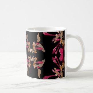 Modern Kaleidoscope Style Floral Pattern Coffee Mug