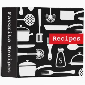 Modern kitchen recipe binder organizer