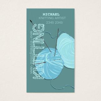 Modern Knitting  Craft Artist Business Card