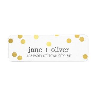 MODERN LABEL cute playful confetti spots gold foil