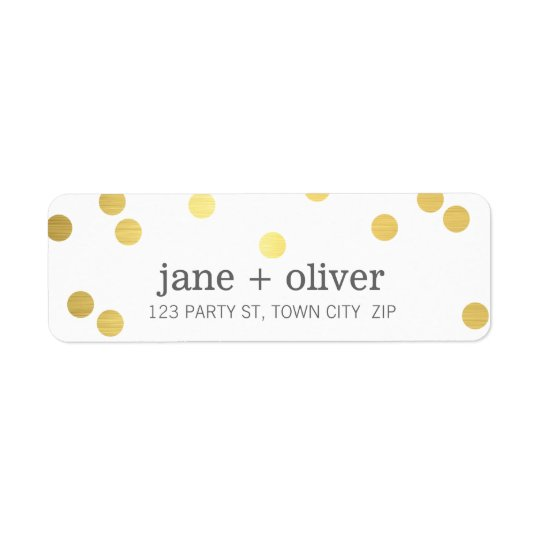 MODERN LABEL cute playful confetti spots gold foil
