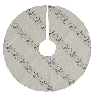 Modern Lace Abstract Brushed Polyester Tree Skirt