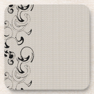Modern Lace Abstract Drink Coasters