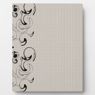 Modern Lace Abstract Plaque