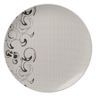 Modern Lace Abstract Plate