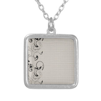 Modern Lace Abstract Silver Plated Necklace