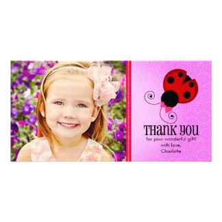 Modern Ladybug Personalized Thank You Card