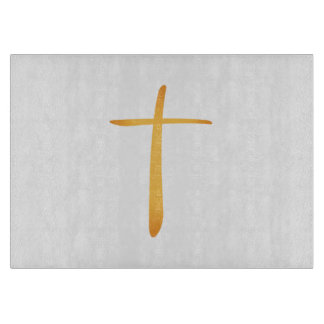 Modern Latin Christian Cross Cutting Boards