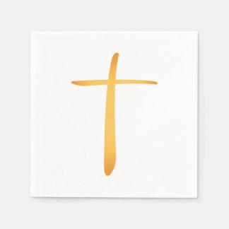 Modern Latin Christian Cross Paper Napkins