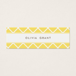 Modern Lattice Skinny Calling Card