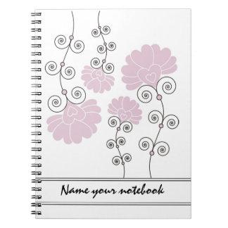 Modern Lavender Floral Designer Notebooks