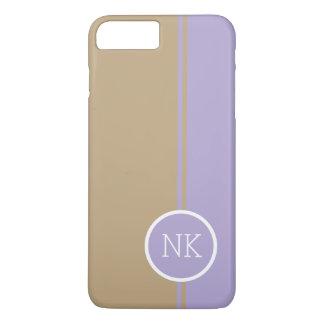 Modern lavender round circle Monogram iPhone 7 Plus Case