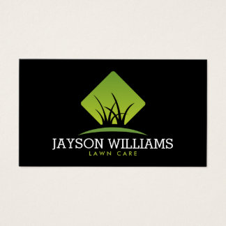 Modern Lawn Care/Landscaping Grass Logo II Business Card