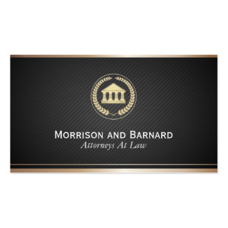 Modern Lawyer Attorney Faux Gold Courthouse Business Card