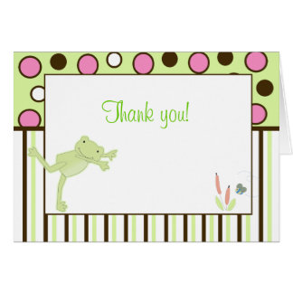 Modern Leap Frog Trendy Note Card Thank you note