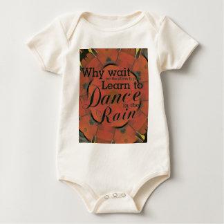 Modern 'Learn to Dance In the Rain Inspirational Baby Bodysuit
