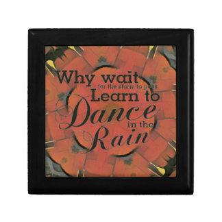 Modern 'Learn to Dance In the Rain Inspirational Gift Box