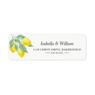 Modern Lemon Summer Wedding Address