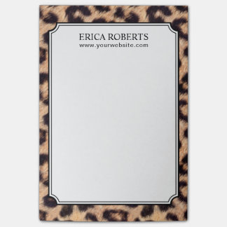 Modern Leopard Print Pattern Post-it® Notes