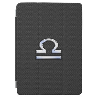 Modern Libra Zodiac Sign on black snake skin style iPad Air Cover