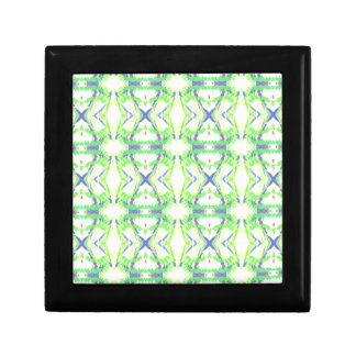 Modern Light And Airy Green Blue Tribal Pattern Trinket Boxes