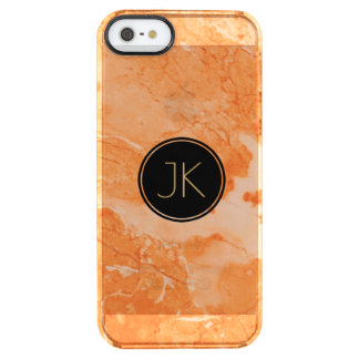 Modern Light Beige Marble Texture Print Clear iPhone SE/5/5s Case