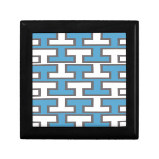 Modern Light Blue and White Bricks Jewelry Boxes
