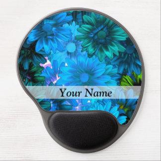 Modern light blue floral pattern gel mouse pad