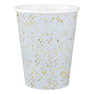 Modern Light Blue with Gold Flecks Paper Cup