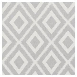 Modern Light Gray Ikat Pattern Fabric