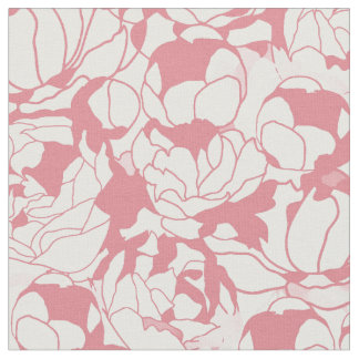 Modern Light Pink Floral Girly Flower Pattern Fabric