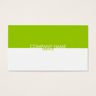 Modern Lime Green White Profile Card