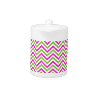 modern lime-pink zig zags