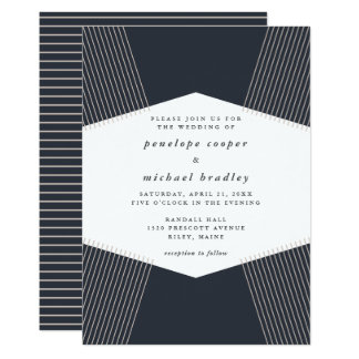 Modern Lines Wedding Invitation