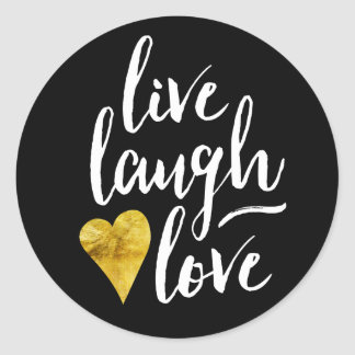 Modern Live Laugh Love Stickers