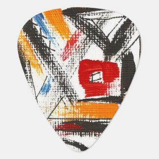 Modern Loft-Hand Painted Abstract Geometric Art Guitar Pick