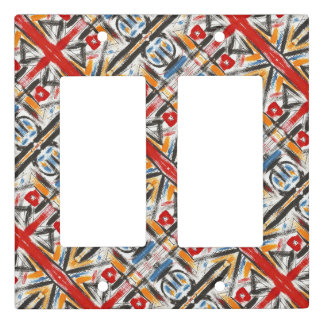Modern Loft-Hand Painted Abstract Geometric Art Light Switch Cover