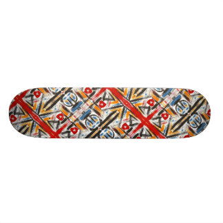 Modern Loft-Hand Painted Abstract Geometric Art Skateboard