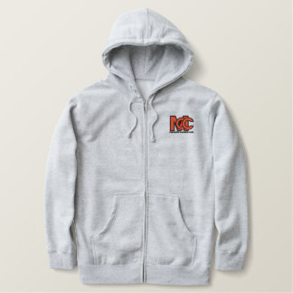 Modern Logo Embroidered Zip Hoody